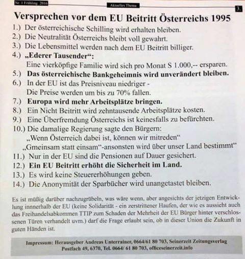 EU Versprechen